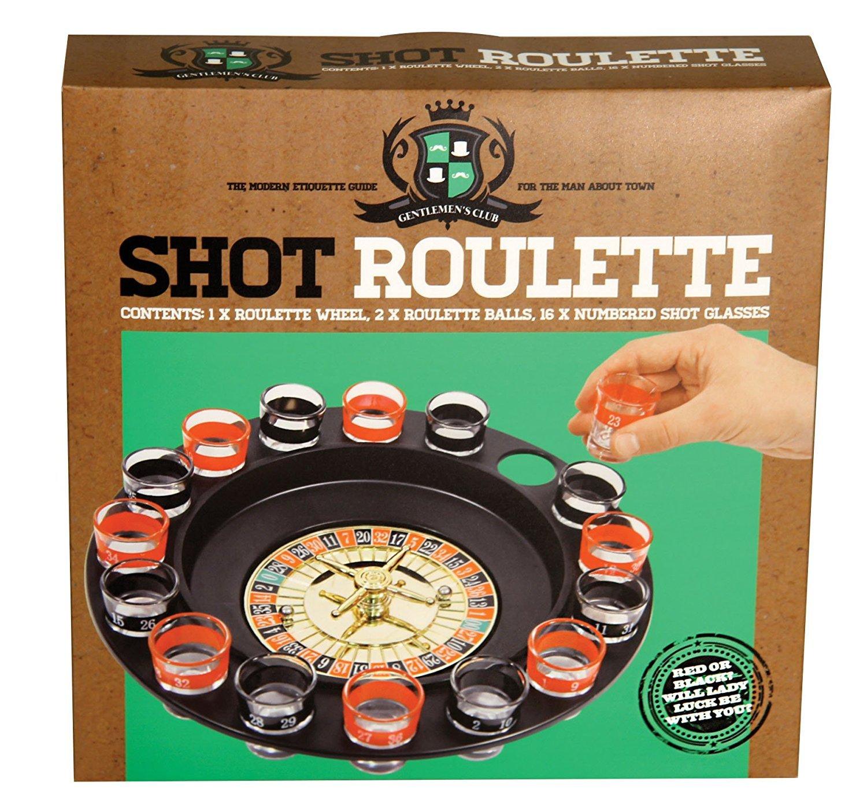 Paladone Gentlemans Club Shot Roulette