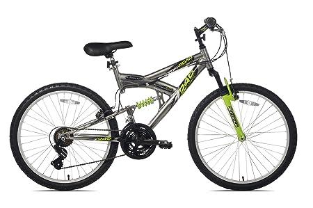 side facing northwoods aluminum full suspension 26 mountain bike