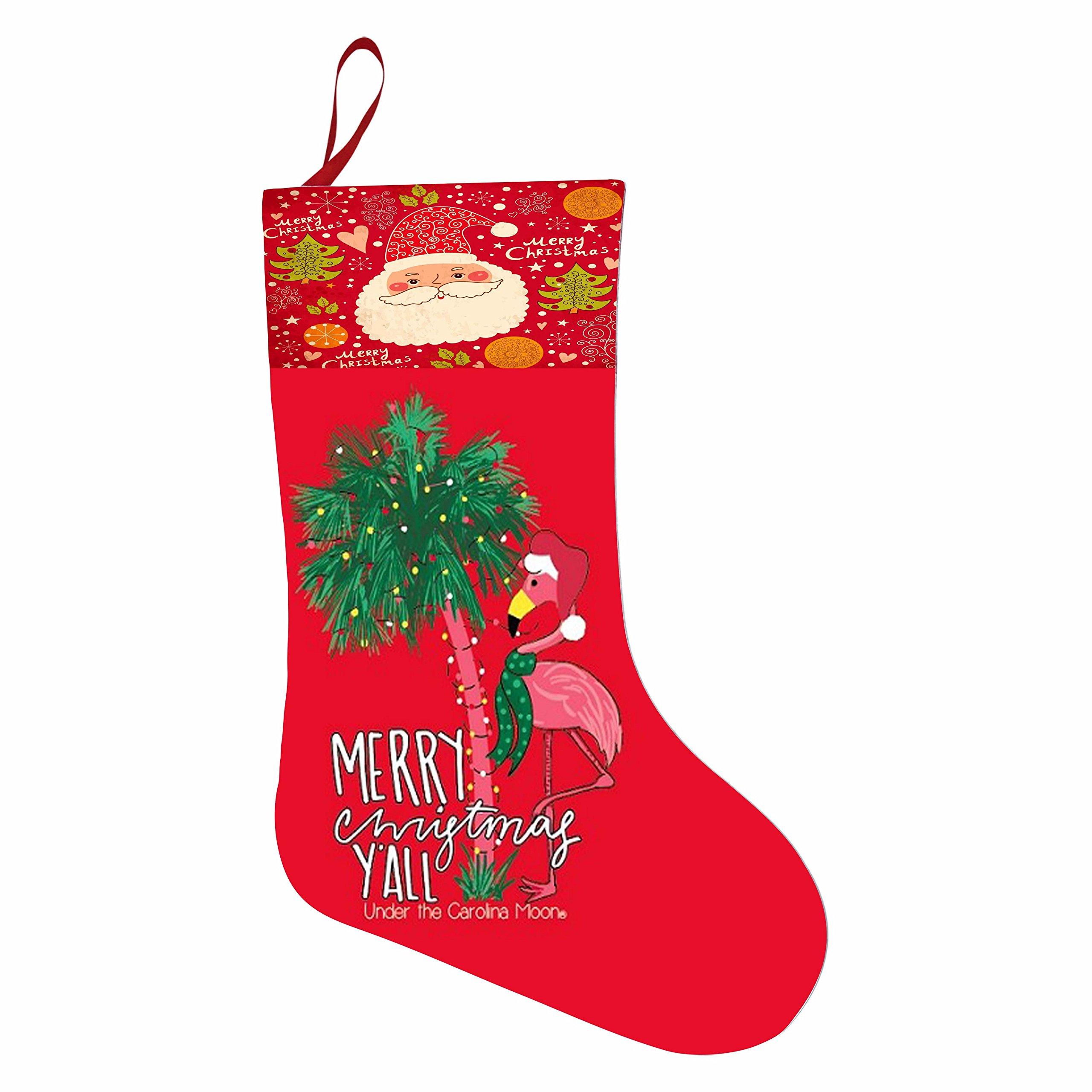 Cartoon Flamingo Merry Christmas Holiday Stocking 3D Printed Santa Claus Sock Xmas Partyies Decorate New Year Gift