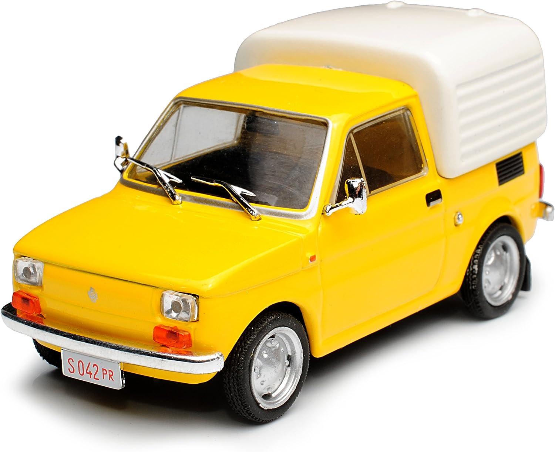Unbekannt FIAT 126P Polski Bombel Transporter Gelb 1975-2000 1//43 Modellcarsonline Modell Auto mit individiuellem Wunschkennzeichen