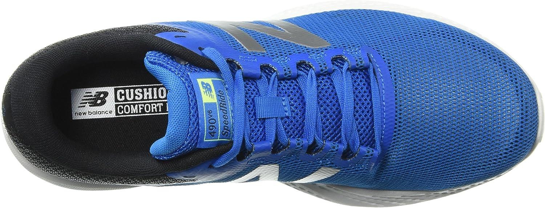 Nieuwe evenwicht mannen 490 hardloopschoenen Blue Laser Blue Laser Blue
