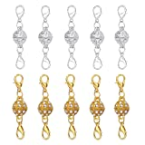 Amazon Price History for:Aiskaer 10 Pcs Gold Color and Silver Color Rhinestone Ball Style Magnetic Lobster Clasps for Jewelry Necklace Bracelet