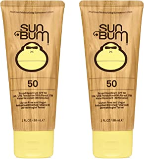 product image for Sun Bum Sun Bum Original Spf 50 Sunscreen Lotion Vegan and Reef Friendly (octinoxate & Oxybenzone Free) Broad Spectrum Moisturizing Uva/uvb Sunscreen With Vitamin E 3 Ounce 2 Pack