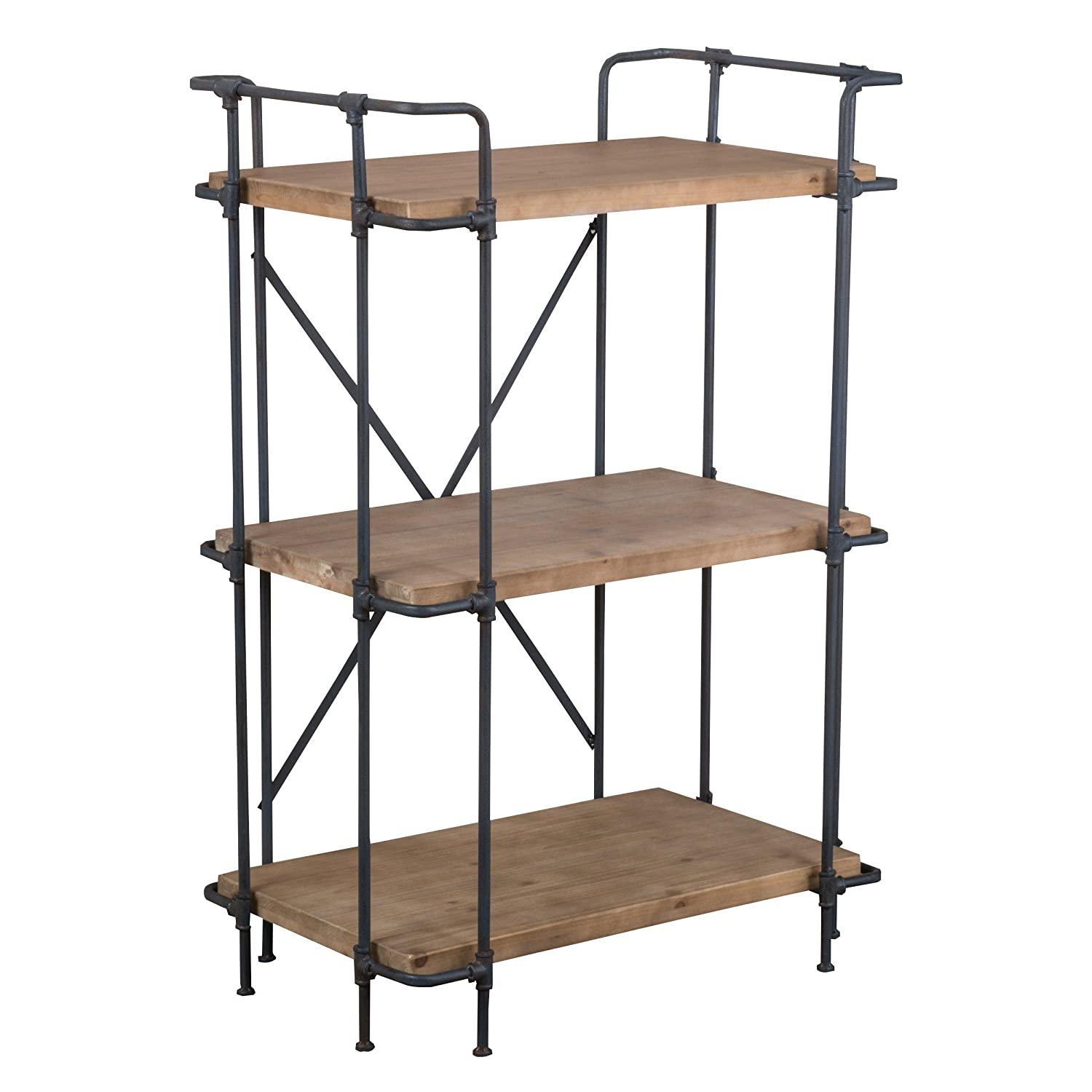 Amazon.com: Denise Austin Home Brooklyn 3-Shelf Bookcase: Kitchen ...