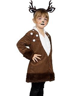 Kinder Kostum Rehkitz Bambi Gr 104 140 Kleid Braun Tier Reh
