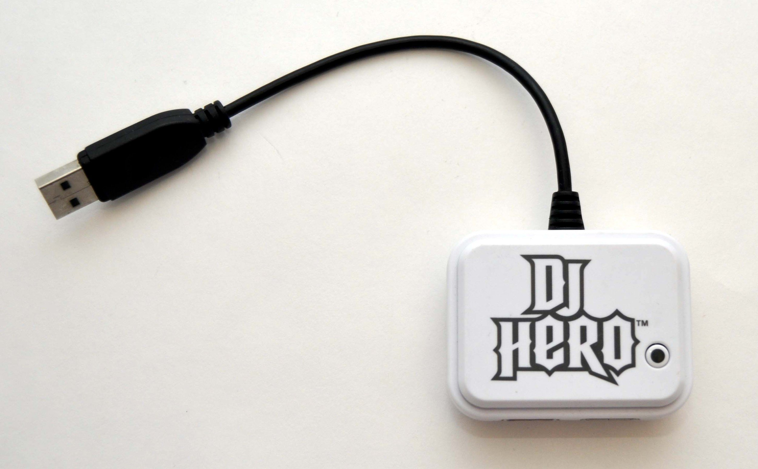 PS3 DJ HERO 2 Turntable WHITE RECEIVER Dongle