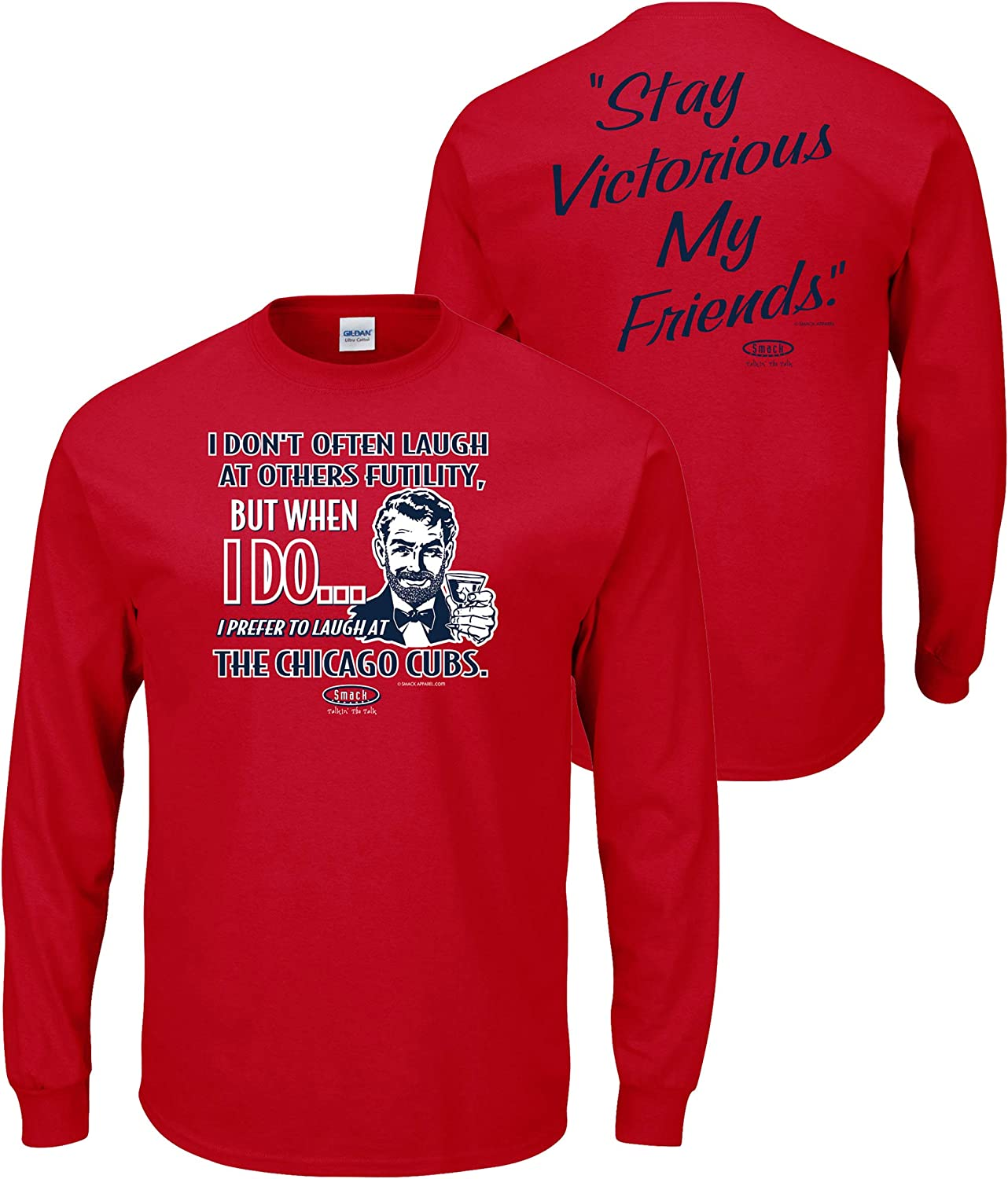 Anti-Cubs Sm-5X Louis Baseball Fans Stay Victorious Smack Apparel St Red T-Shirt