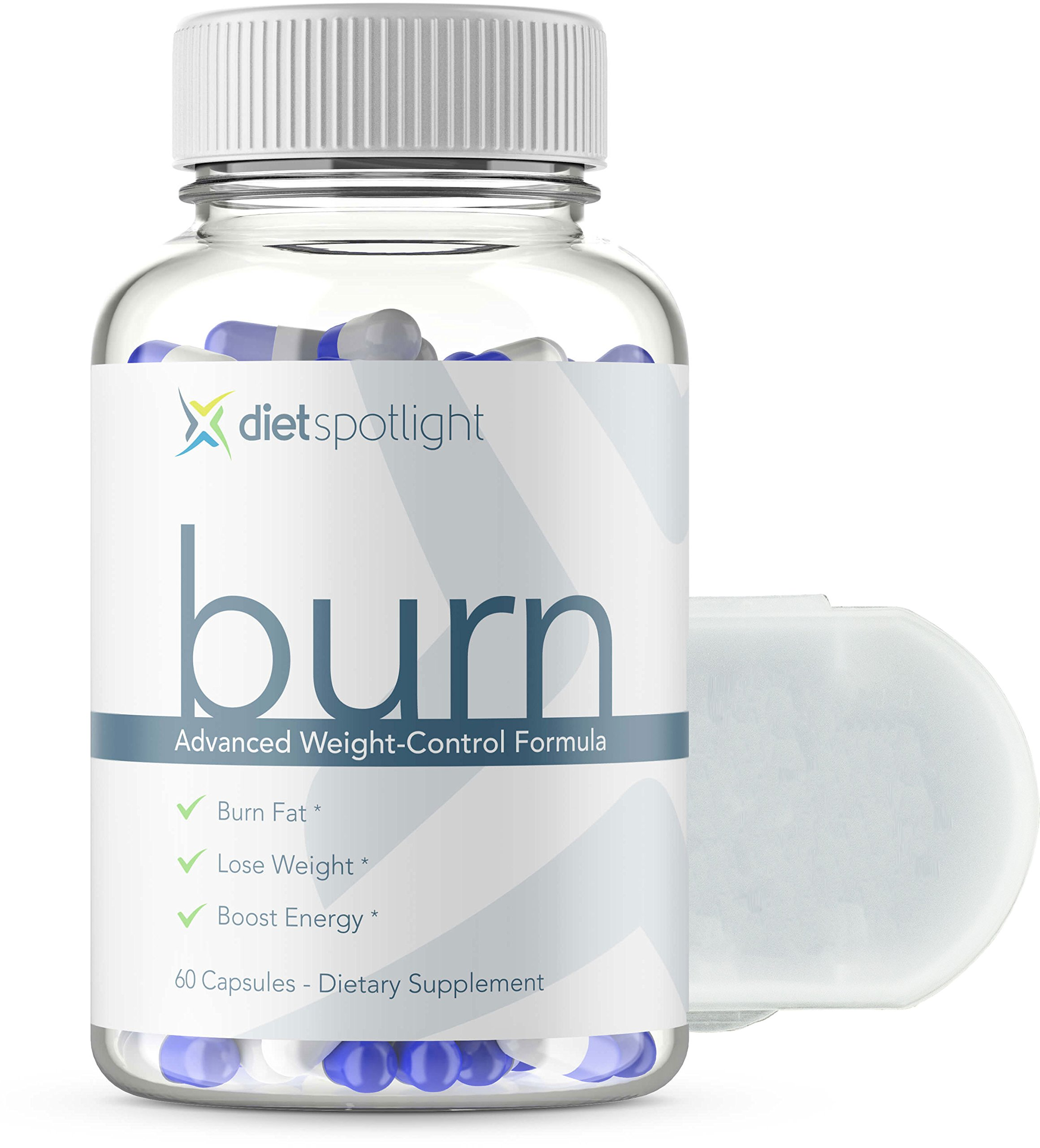 Burn HD by DietSpotlight Advanced Weight Loss Formula - Metabolism & Energy Booster, Appetite Suppressant, Safe & Effective Natural Thermogenic Supplement (1 Bottle and Daily Dose Case)