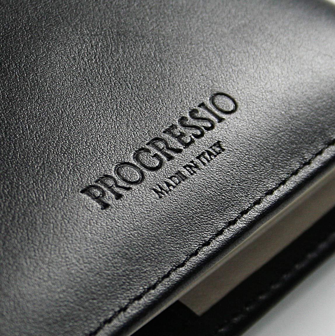 Progressio Agenda 2020 vera pelle calendario giornaliero 12 mesi planner a righe dimensione A5 15x21 made in Italy nero