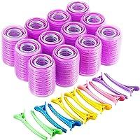 Self Grip Hair Rollers Set, Self Holding Rollers and Multicolor Plastic Duck Teeth...
