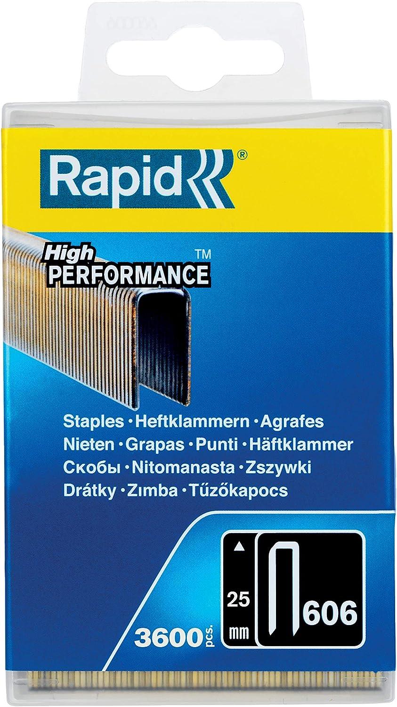 Rapid 40109527 Grapas, 1 W, 1 V, 12mm, Set de 3600 Piezas: Amazon.es: Bricolaje y herramientas