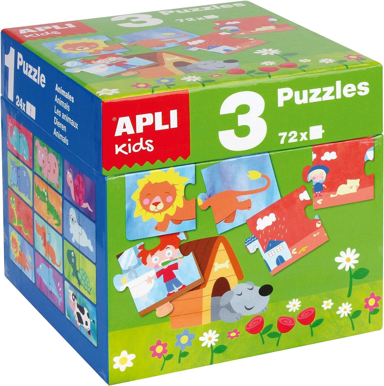 APLI Kids - Cubo 3 puzles , color/modelo surtido: Amazon.es: Juguetes y juegos