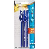 Paper Mate Erasermate Stick Medium Tip Ballpoint Pens, 3 Blue Ink Pens (3150458PP)