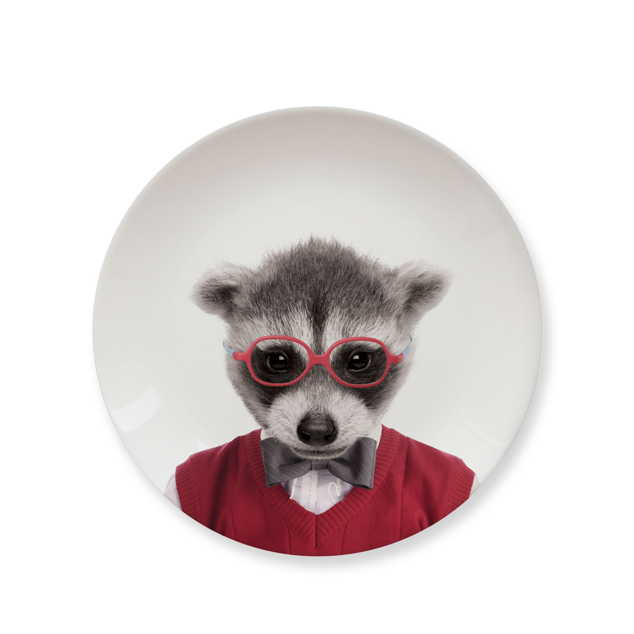 MUSTARD Ceramic Dinner Plate I Dishwasher safe I Dinnerware - Wild Dining Raccoon