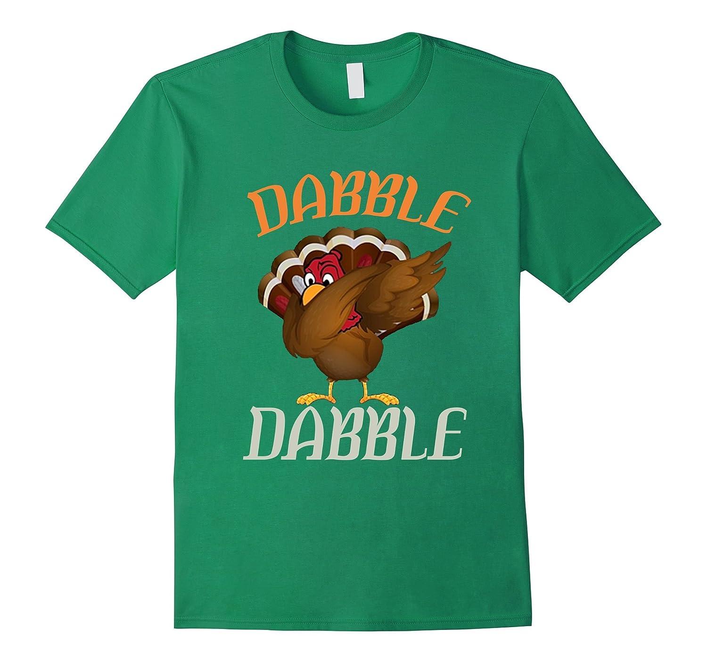 Funny Thanksgiving Dabbing Turkey tshirt Gift for Kids-ANZ - Anztshirt