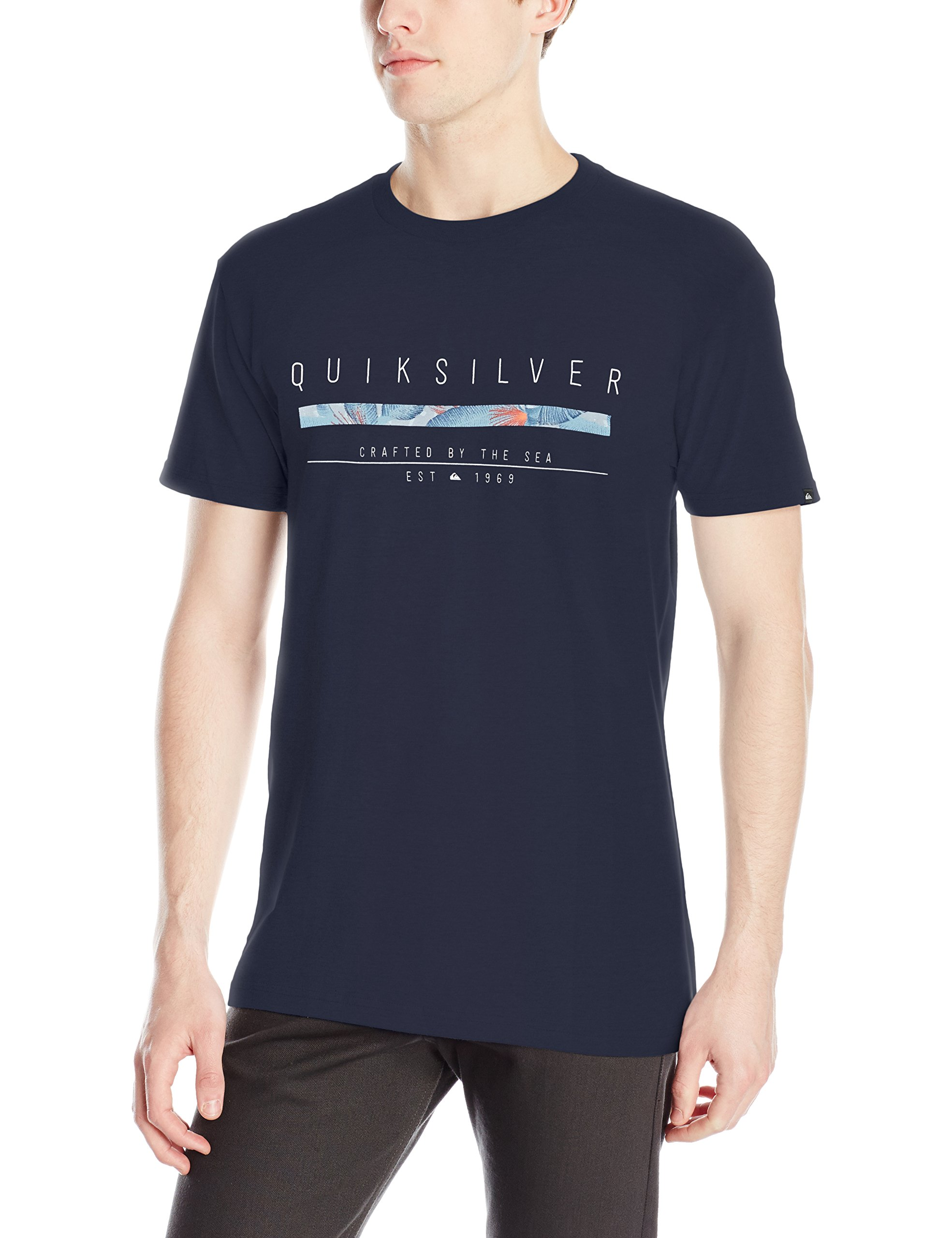 Quiksilver Men's Static T-Shirt, Navy Blazer, Medium