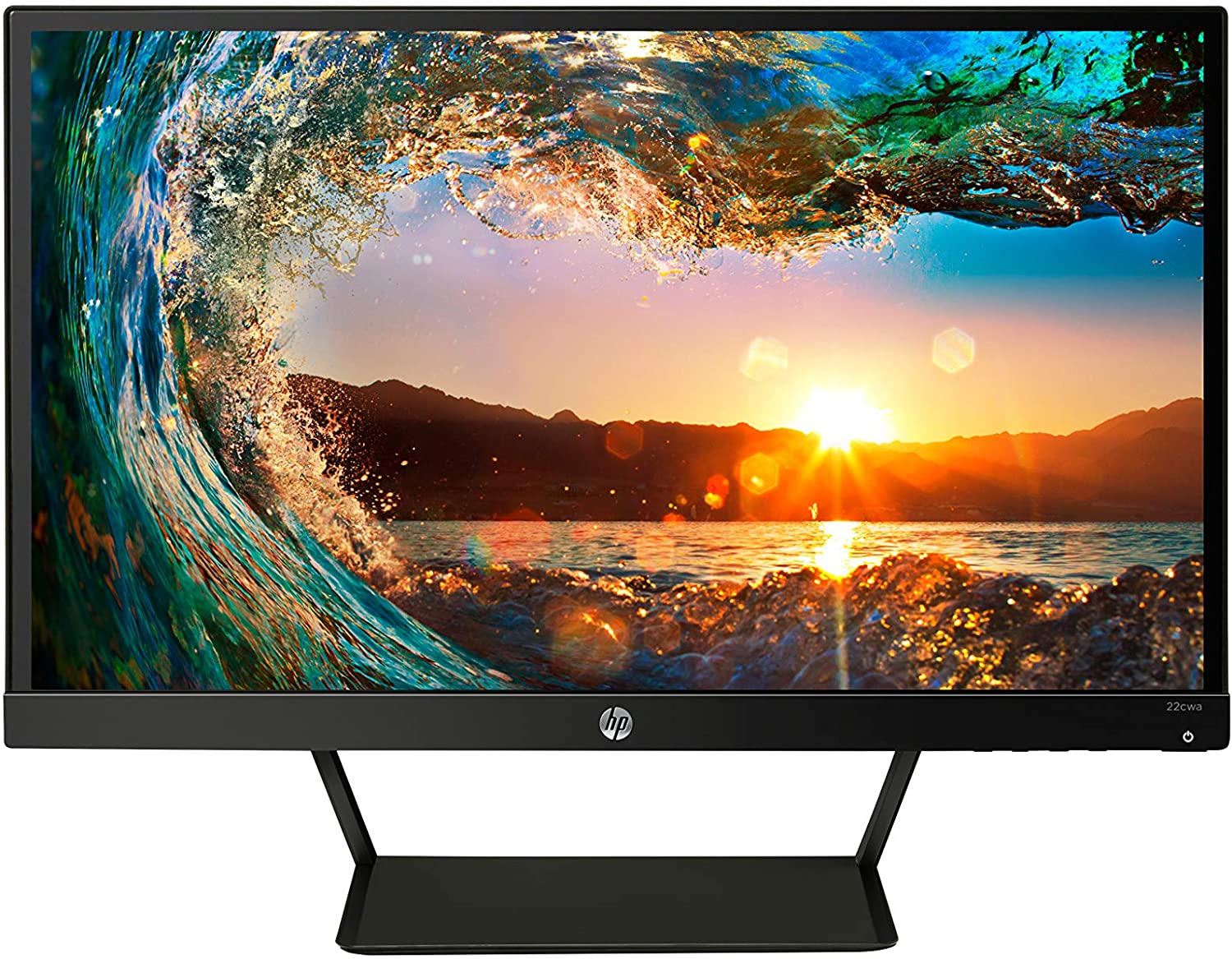 Amazon Com Hp Pavilion 22cwa 21 5 Inch Full Hd 1080p Ips Led Monitor Tilt Vga And Hdmi T4q59aa Black Computers Accessories