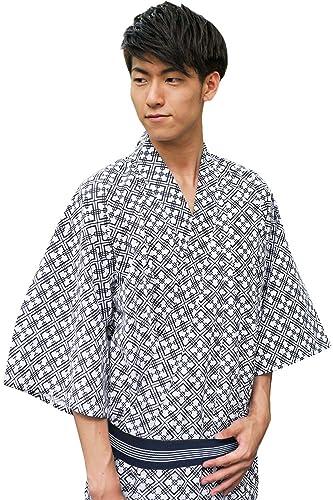 (キョウエツ)KYOETSUメンズ旅館浴衣3点セット(浴衣/共紐/丹前帯)(135,03)