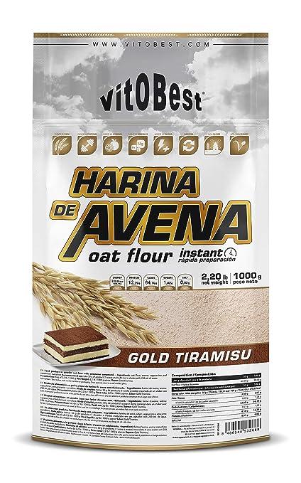 Harina de Avena Sabores Variados - Suplementos Alimentación y Suplementos Deportivos - Vitobest (Tiramissu, 1 Kg)