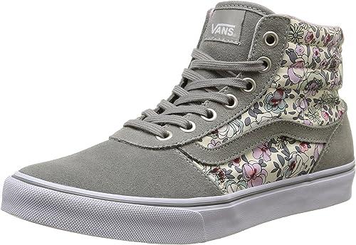 Vans Milton Hi, Sneakers Hautes Femme, Gris (Vintage Floral/Gray/Lavender),  38 EU