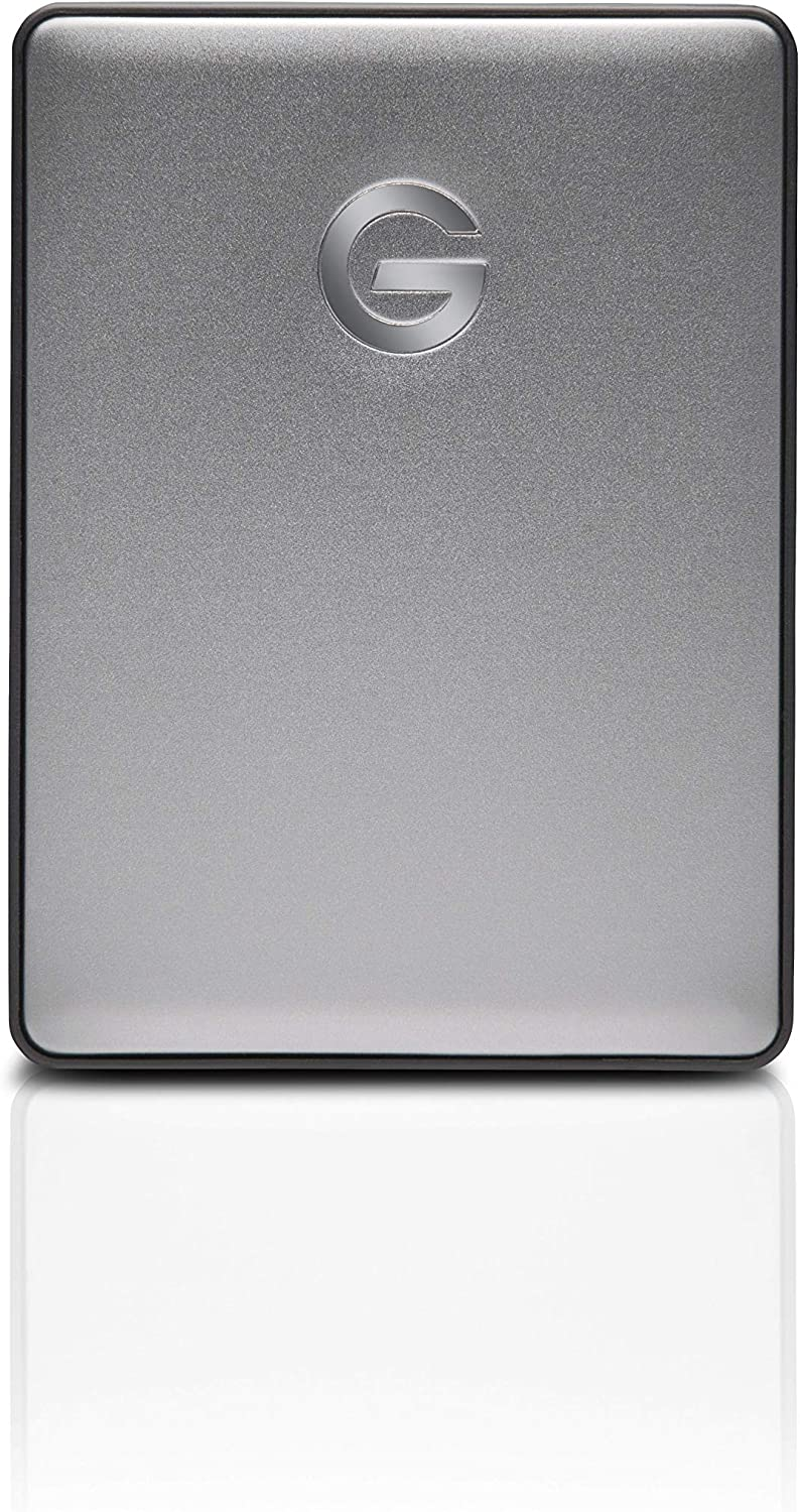 G-Technology 1TB G-DRIVE Mobile USB-C (USB 3.1 Gen 1) Portable External Hard Drive, Space Gray - 0G10265