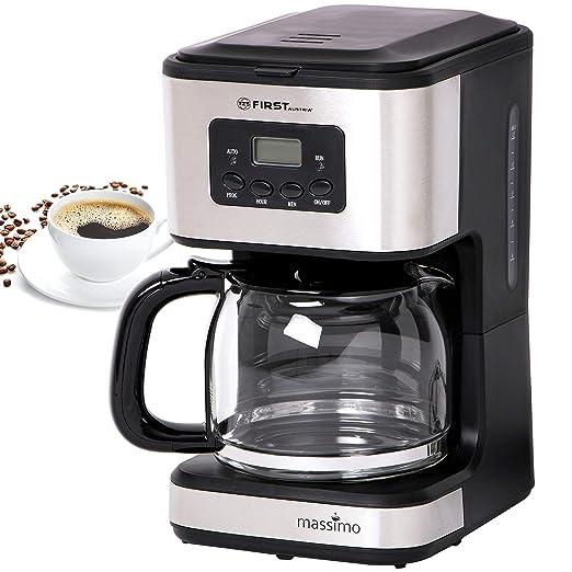 Cafetera de filtro para 12 tazas con temporizador