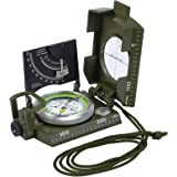 Neoteck Clinometer Compass Professional Military Army Metal Sighting Compass With Clinometer Carry Bag for Hiking Hunting Camping Geology and Other Outdoor Activities