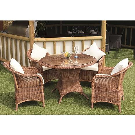 Sicilia jardín juego de comedor - mesa - 4 sillones ...