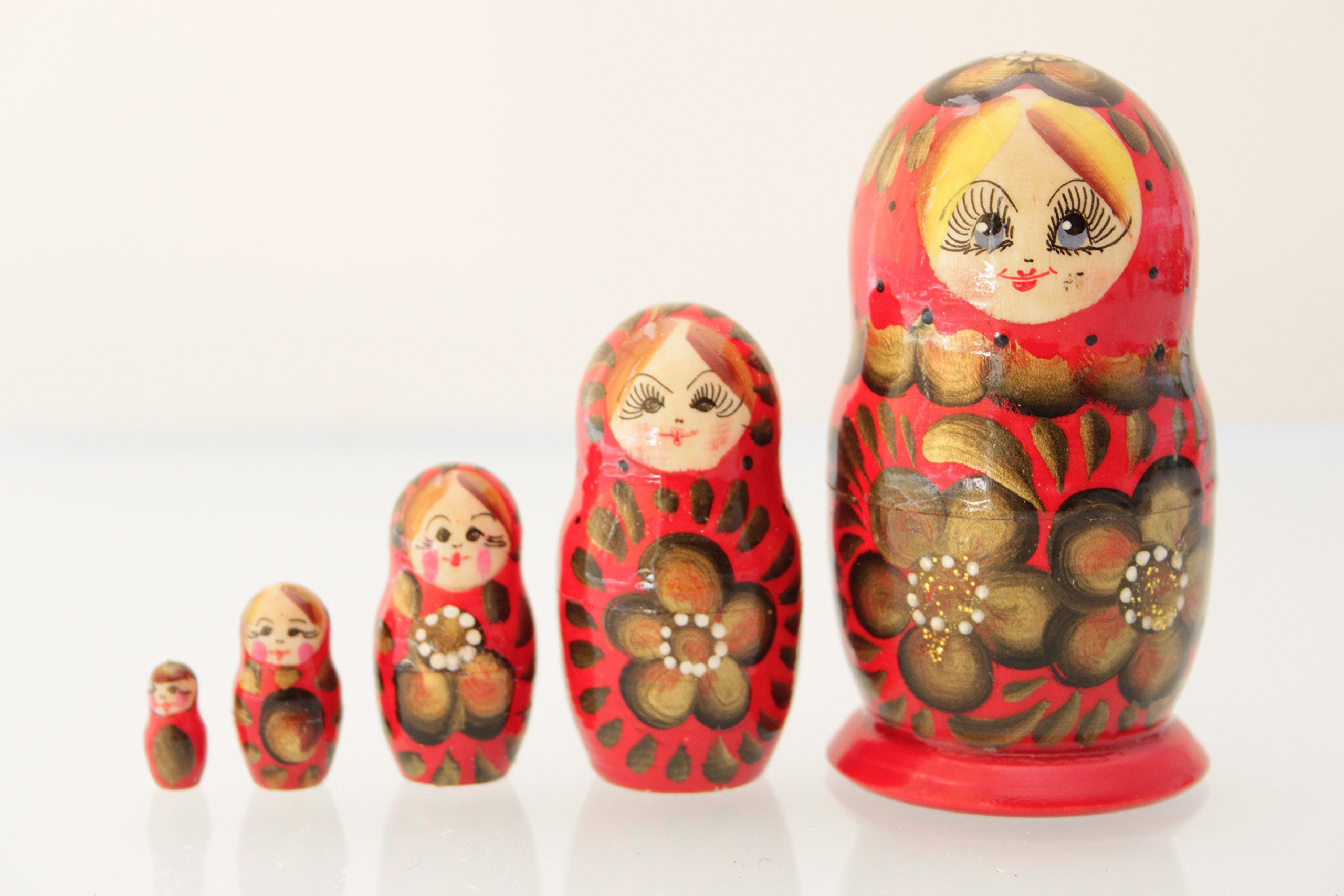 SODIAL R Russian Matryoshka Blank Nesting dolls paint your own set of 5 Russian Matryoshka