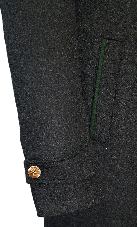 Steinbock Trachten-Lodenmantel Mantel Kurzmantel f/ür Herren Trachtenmantel Walk Loden grau Hirschhornkn/öpfe Herrenmantel aus Loden anthrazit dunkelgrau modischer Schnitt