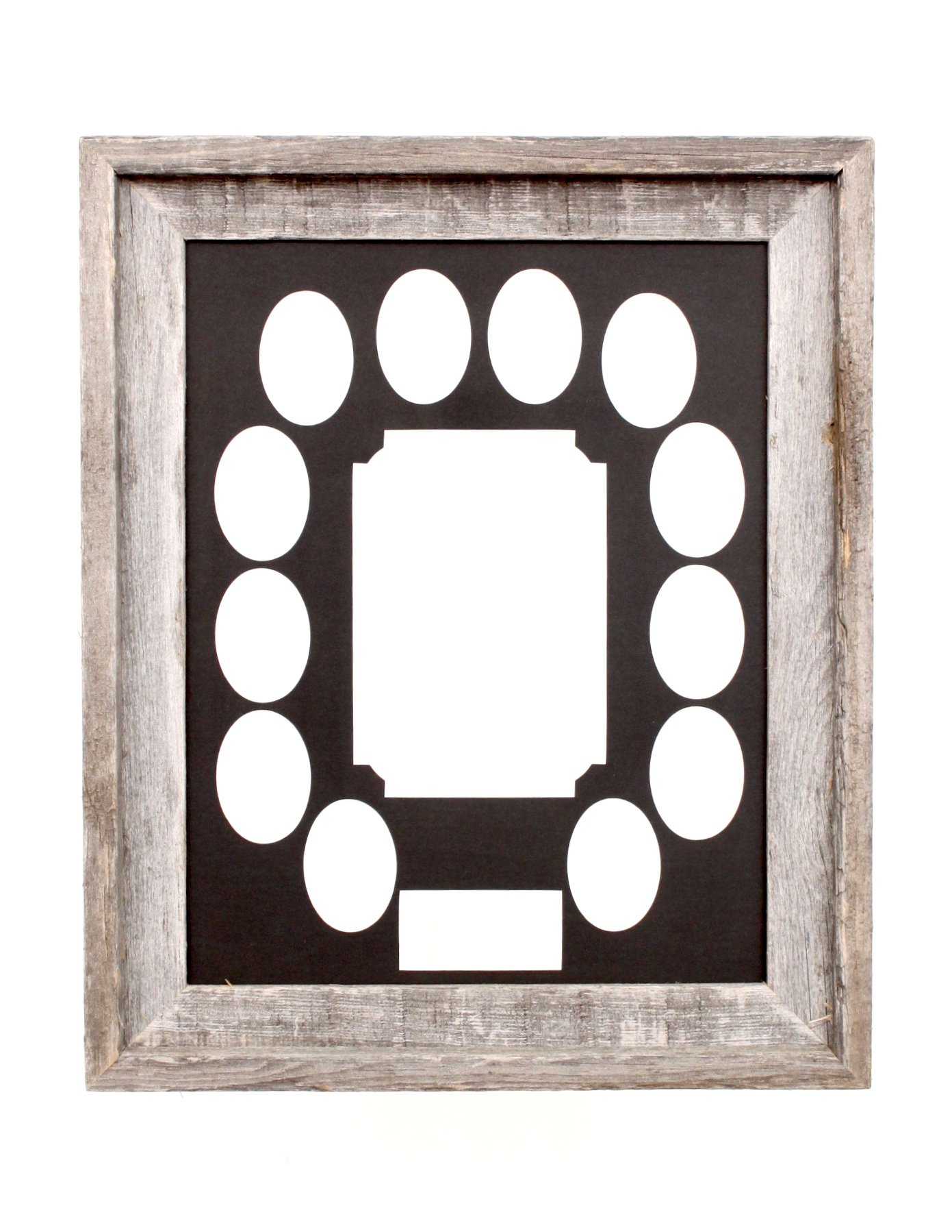 BarnwoodUSA School Years Matted Picture Frame K-12, 100% Upcycled Wood (11x14, Black)