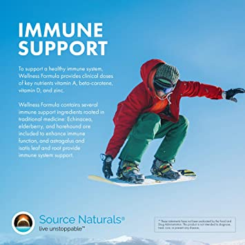 Source Naturals Wellness Formula Bio-Aligned Vitamins & Herbal Defense -  Immune System Support