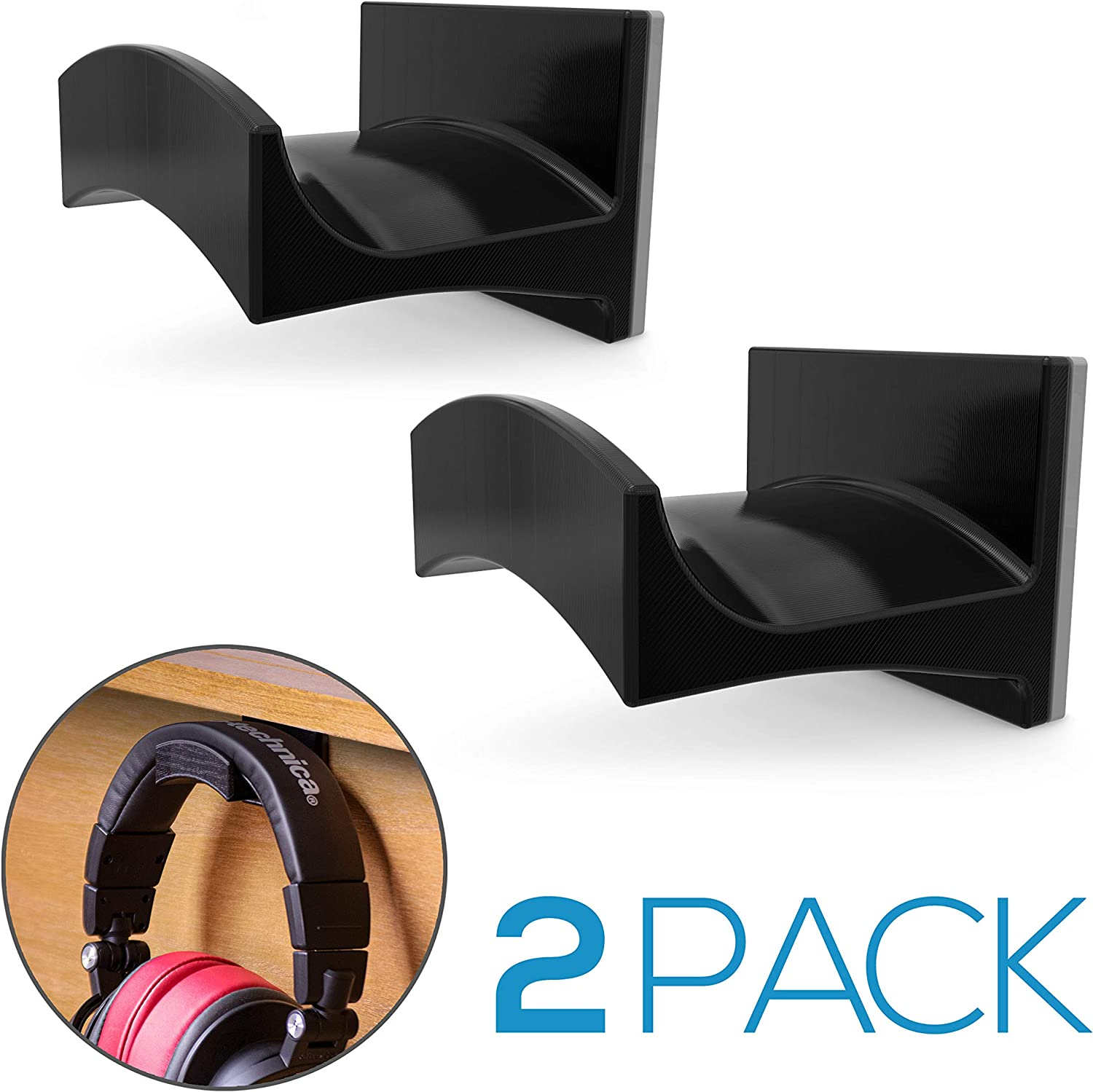 Brainwavz Cradle Large - 2PK - Headphone Hanger, Universal Stand for Sennheiser, Sony, Bose, Beats, AKG, Audio-Technica, Gaming Controller, Cables, Gamepad & Other Gaming Accessories