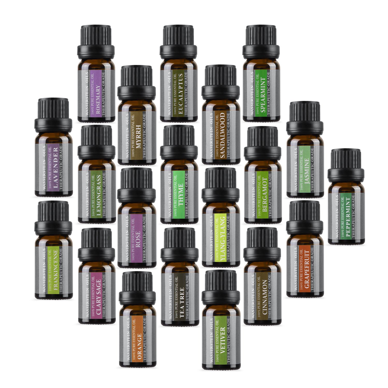 Aromatherapy Oils 100% Pure Basic Essential Oil Gift Set by Wasserstein (Top 20) by Wasserstein
