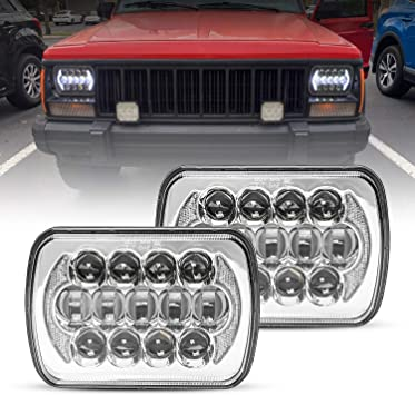Amazon Com 5 X7 6 X7 105w Osram Rectangular Led Headlights