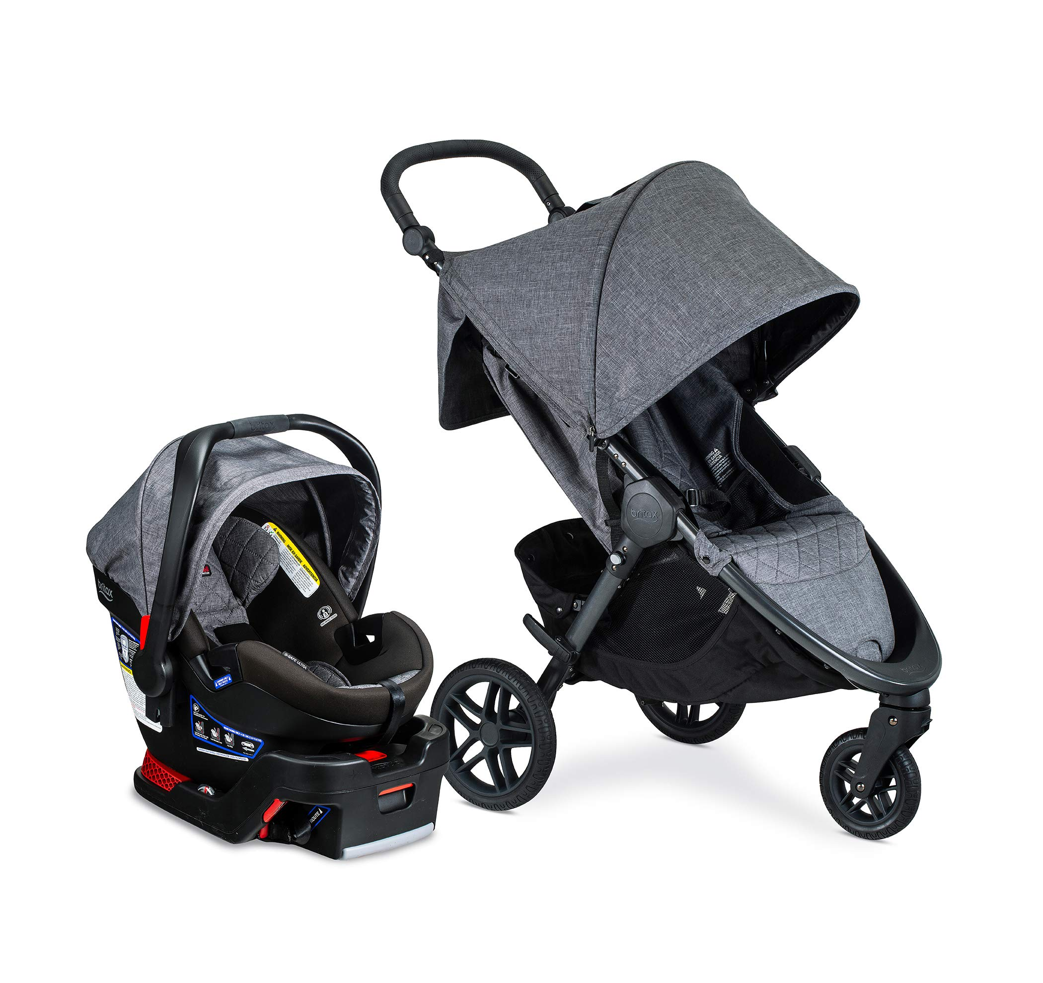Britax B-Free Travel System with B-Safe Ultra Infant Car Seat - Birth to 65 pounds, Vibe by BRITAX
