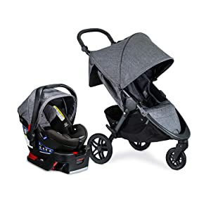 Britax B-Free Travel System with B-Safe Ultra Infant Car Seat - Birth to 65 Pounds, Vibe