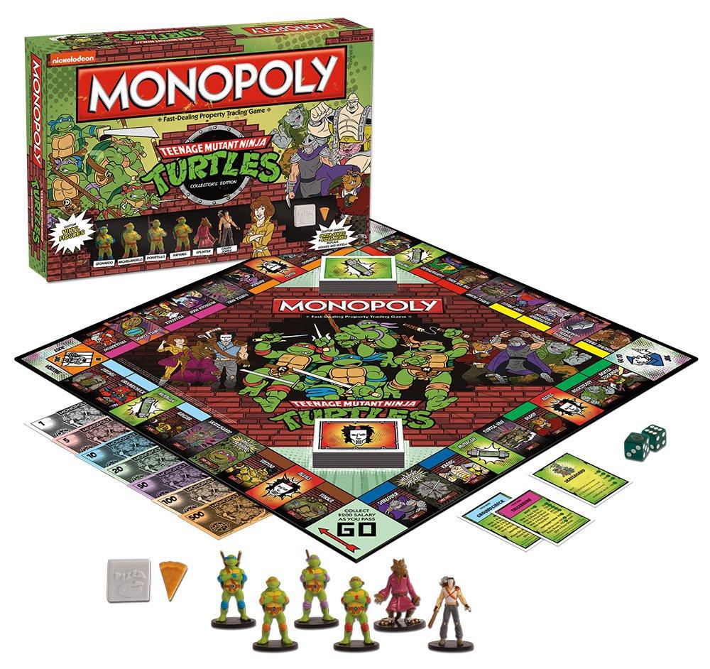 amazon com monopoly teenage mutant ninja turtles collector u0027s