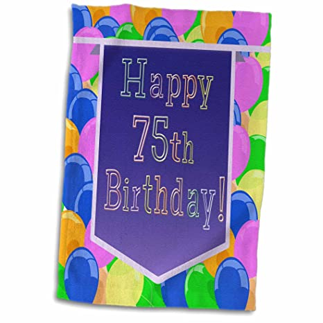 Amazon 3D Rose Balloons With Purple Banner Happy 75th Birthday