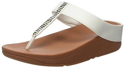 Fitflop Fino Strobe ToeThong Sandals Sandali Punta Aperta Donna Bianco