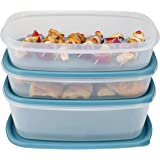 Rubbermaid Easy Find Lid Food Storage Container, BPA-Free Plastic, Arctic Blue, 6-Piece Set (1877958)