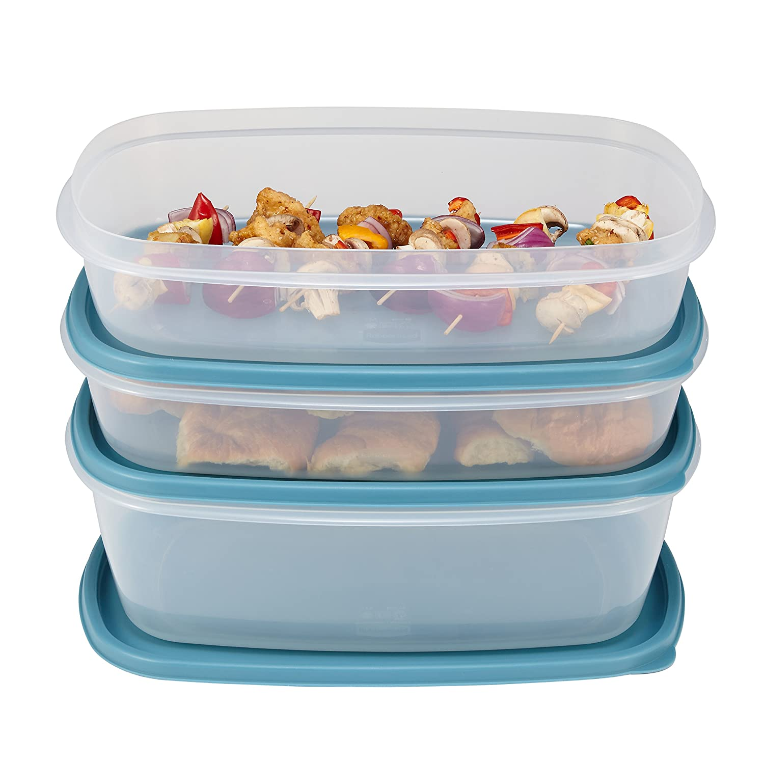 Rubbermaid Easy Find Lids Food Storage Containers, Arctic Blue, 6-Piece Set 1877958