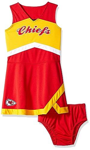 788bab06b40 Amazon.com: Outerstuff NFL Girls Kids & Youth Girls Cheer Captain Jumper  Dress: Sports & Outdoors