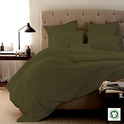 Awesome MADE IN USA Sheet Set 100 % Organic Cotton Italian Finish 800 Thread Count,  SAGE