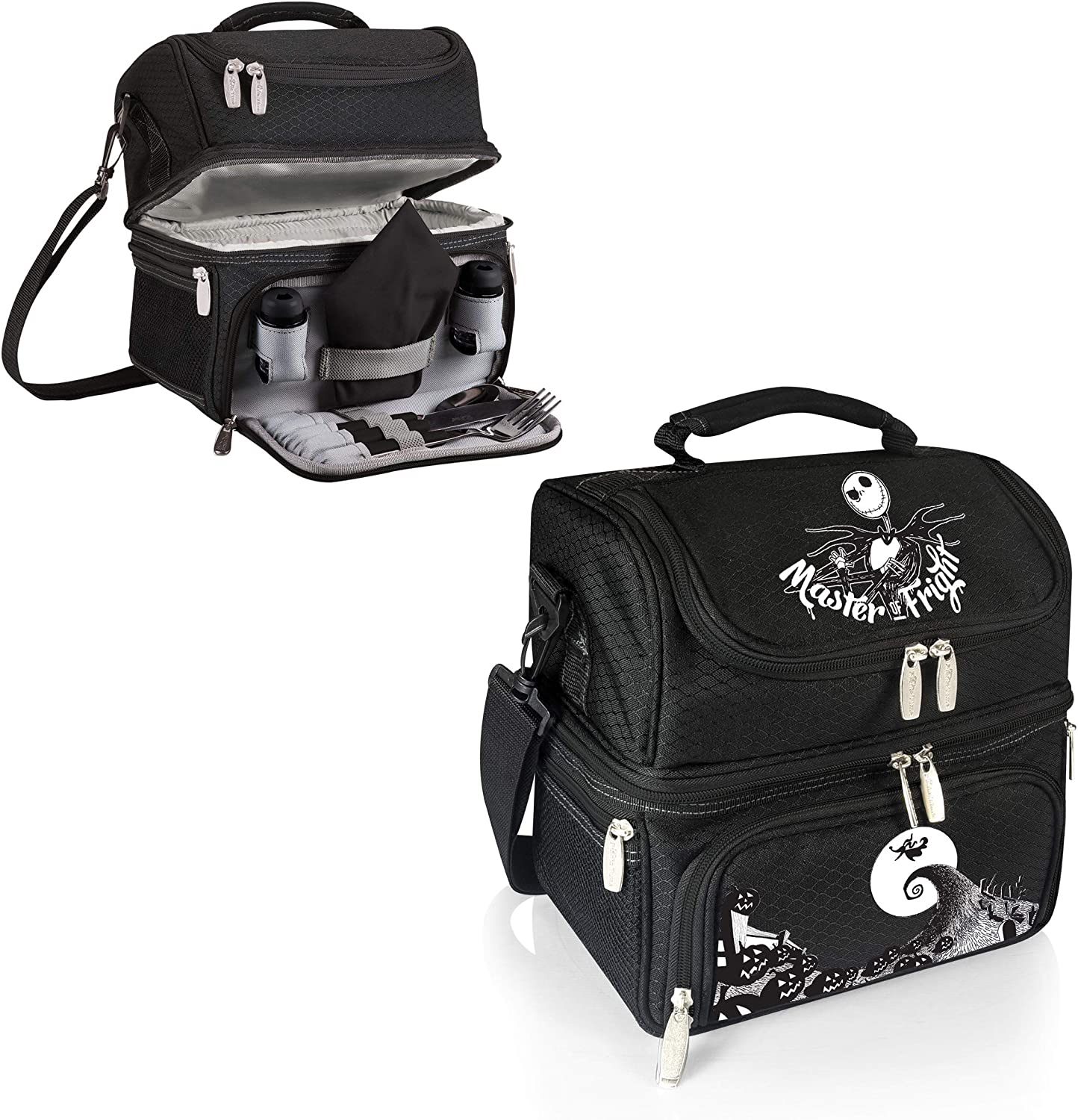 Disney Classics Nightmare Before Christmas//Jack Pranzo Insulated Lunch Tote with Service for One
