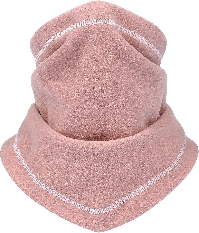 Fleece Winter Neck Warmer for Men Women Neck Gaiter Cover Ski Face Mask Windproof Scarf