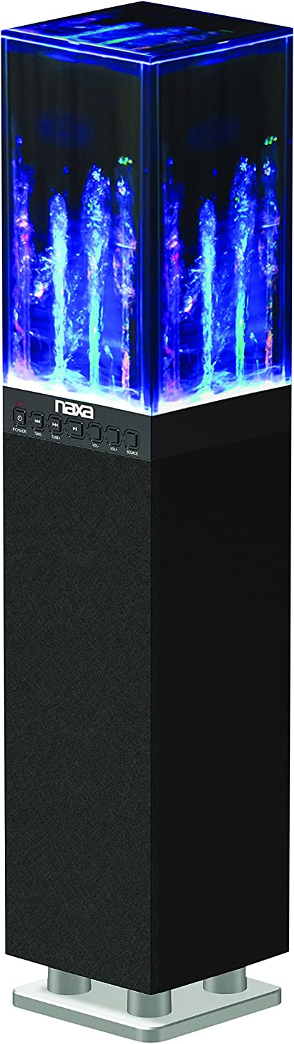 NAXA electronics dancing water light tower speaker system with Bluetooth