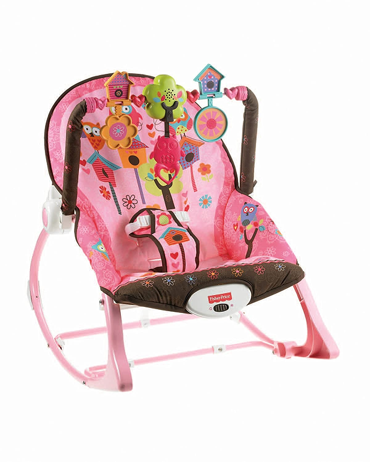 Fisher-Price Infant to Toddler Rocker, Pink Owls X7032