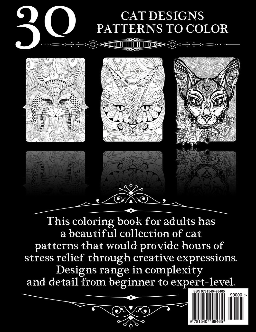 Amazon Coloring Books For Adults Relaxation Cat Designs Creative Cats Book Haven Patterns Fun
