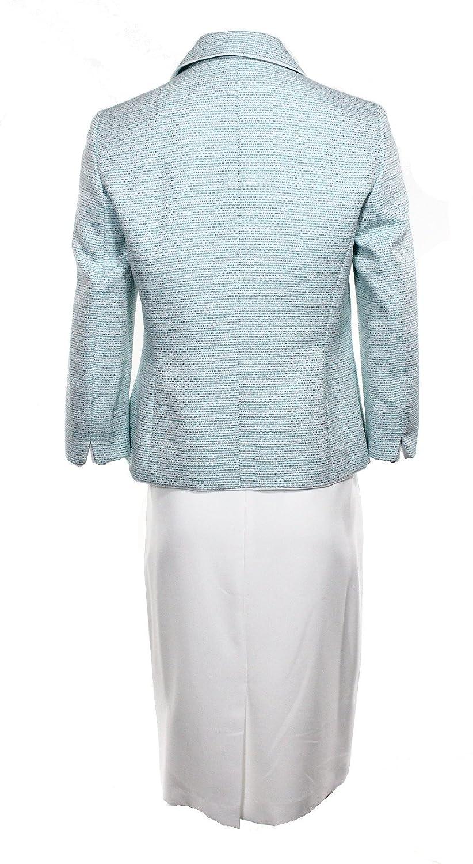 0c1ea57b0 Le Suit White Womens Plus Contrast Shimmer Skirt Suit Set  158 Blue 16W at  Amazon Women s Clothing store